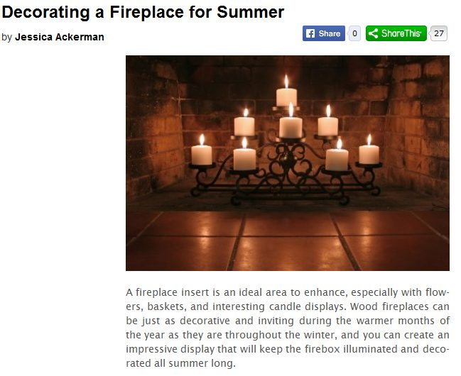 decorating a fireplace for summer