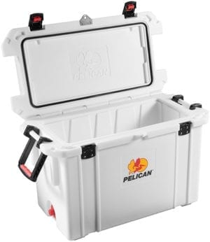 Pelican 95 Quart Elite Cooler - White Extreme Durability Ice Storage
