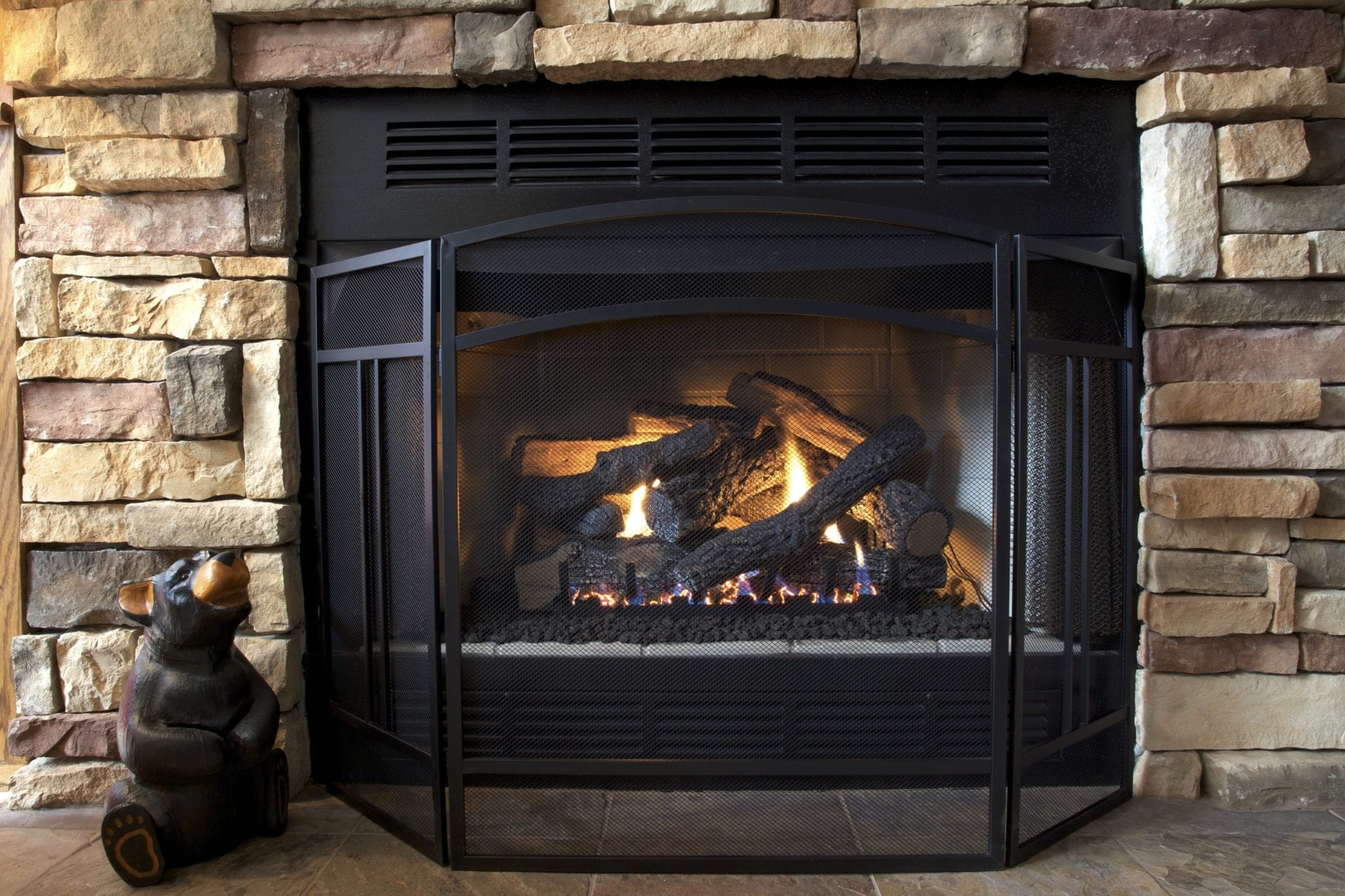 Vented Vs Ventless Gas Fireplace Logs Buchanan Fire And